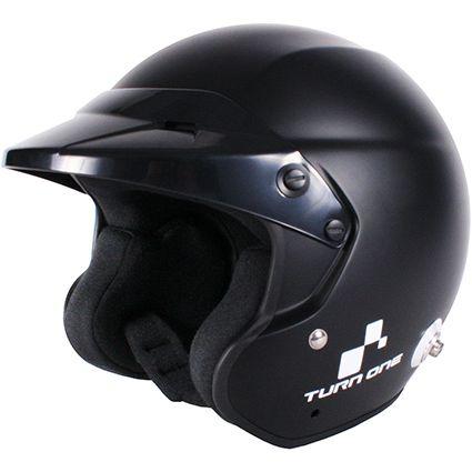 Turn One Jet-RS Open Face Helmet Black