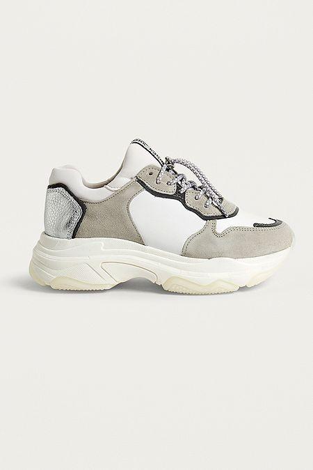 "8e08010b7a21b6 BRONX – Sneaker ""Baisley"" in Weiß mit dicker Sohle"
