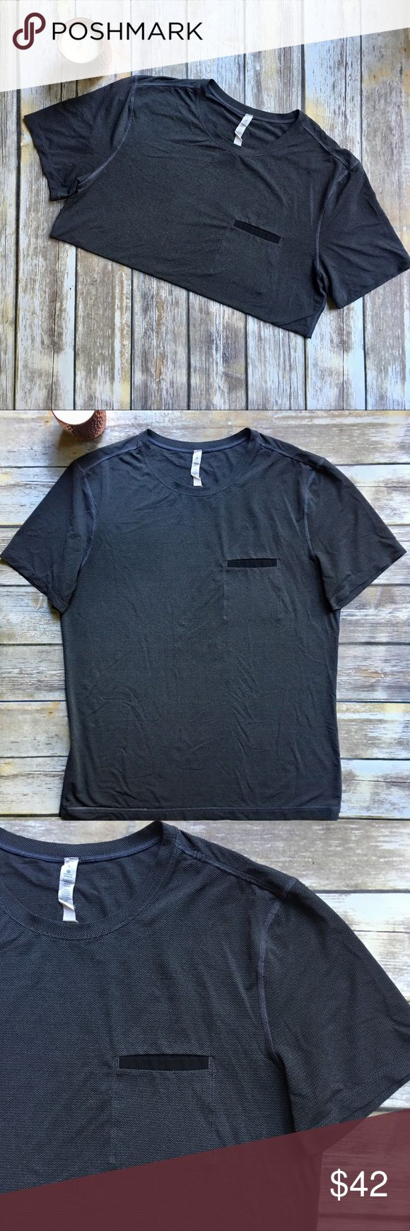 LULULEMON Men's Gray Athletic Shirt w/ Pocket - L LULULEMON Men's Gray Athletic Shirt w/ Pocket - Large. Excellent used condition. No issues. Smoke free home. lululemon athletica Shirts Tees - Short Sleeve