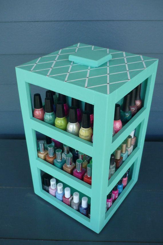Nail Polish Carousel - Tiffany Inspired