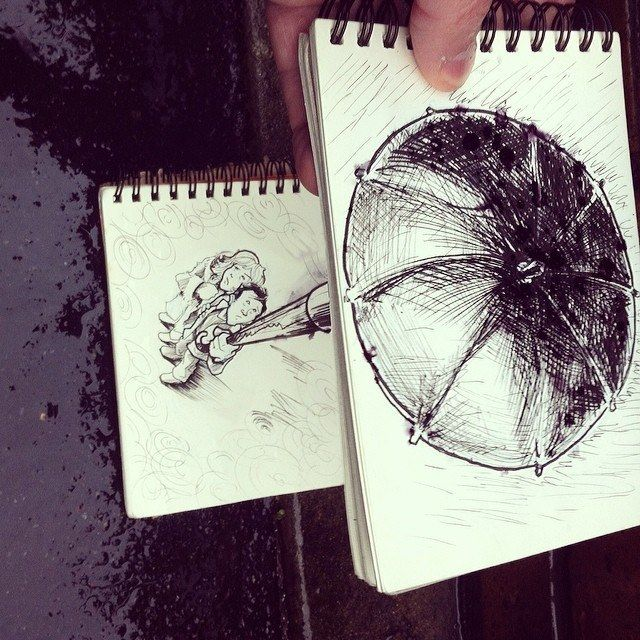 The Creative Rain Shower  18 Creative & Arty Cartoon Bomb Drawings That Will Leave You Amazed • Page 3 of 5 • BoredBug