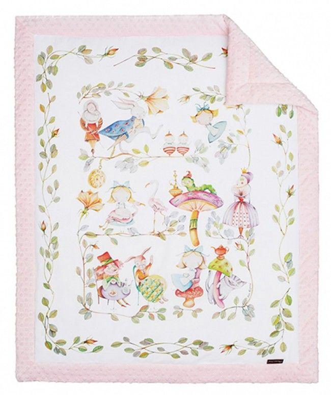 Copertina neonato rosa Alice nel Paese delle Meraviglie - Blanket Story