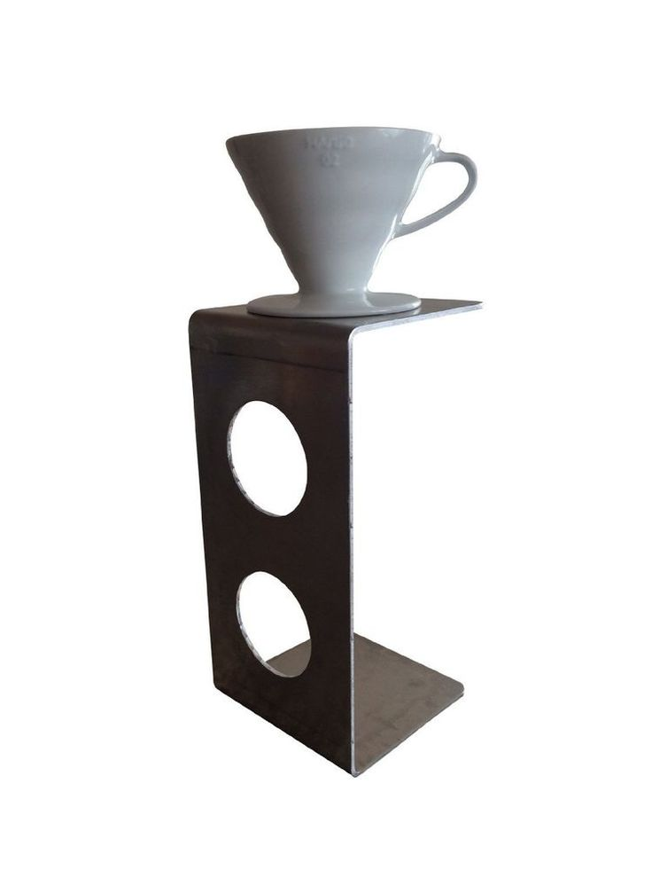 "Modern Pour Over Coffee Stand for Use with V60 Coffee Dripper 5"" x 10 1/4"" x 5""  