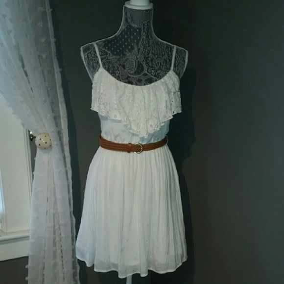 Country SunDress Flowery ruffle makes for a girly sundress. *WORN ONCE* BCX Dresses Mini