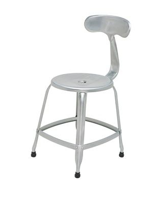 46% OFF Industrial Chic Parisian Chair, Galvanized