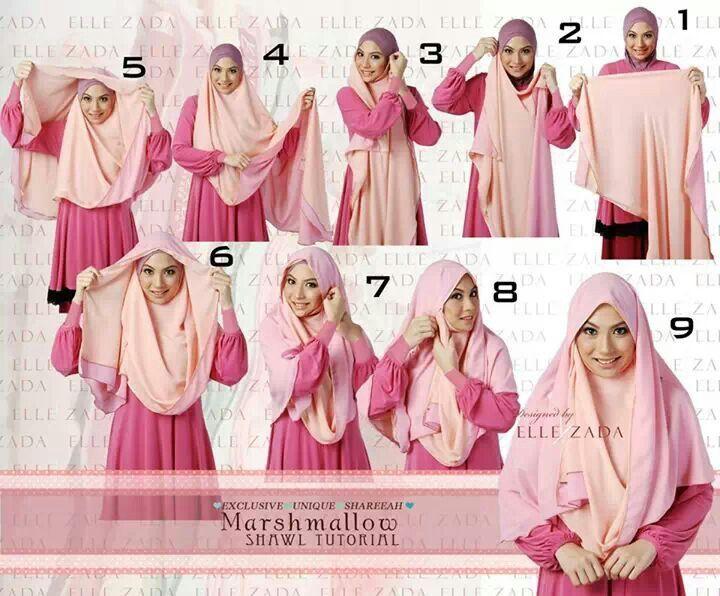 Original Hijab Tutorial For Chest Coverage