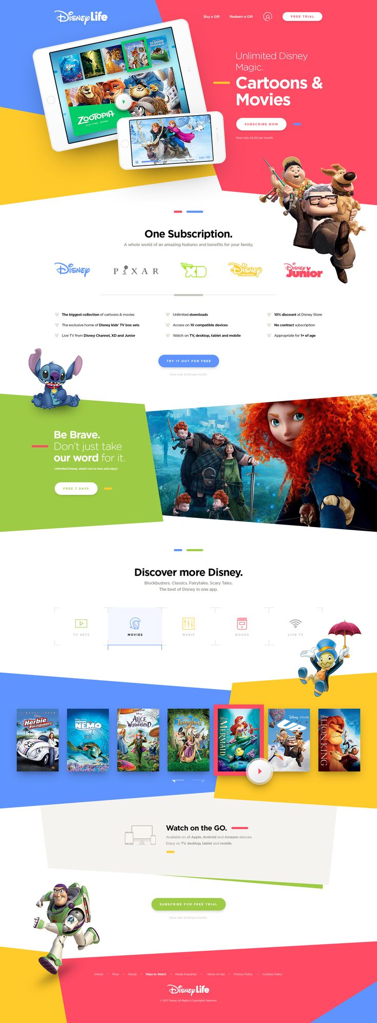 Disneylife - website design inspiration