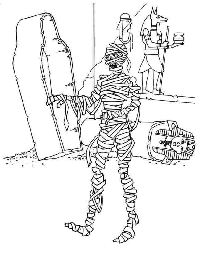 Free Printable Egyptian Mummy Coloring Sheets In 2020 Cartoon Coloring Pages Coloring Pages Mermaid Coloring Pages
