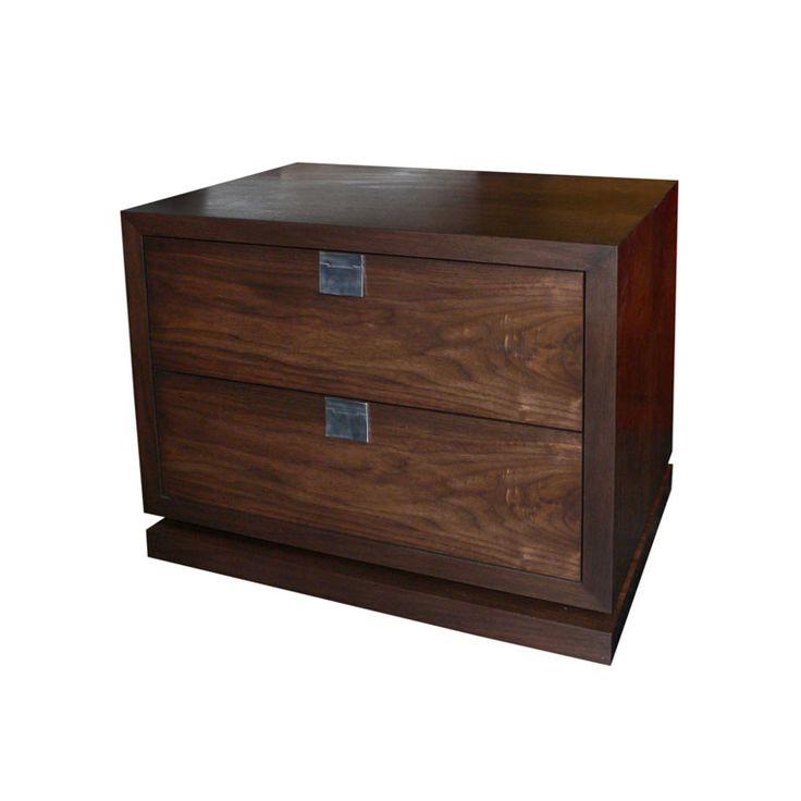 Walnut Bedside Table by Anton Gerner - bespoke contemporary furniture melbourne