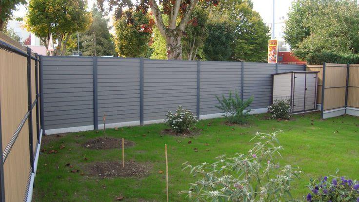 Création d'une clôture occultante en matériaux composite Océwood®