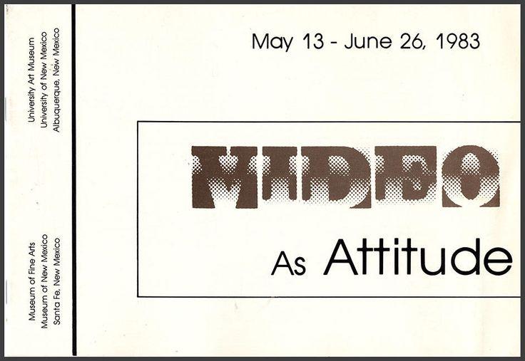 Video As Attitude (May 13-June 26, 1983). Artists:  Joan Jonas, Allan Kaprow, Gary Hill, Rita Myers, Bruce Nauman, Bill Viola, etc. (26166) by ArtPaperEtc on Etsy