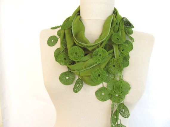 Christmas gift Bridesmaid GiftOIL GREEN Scarf by asuhan on Etsy, $13.50