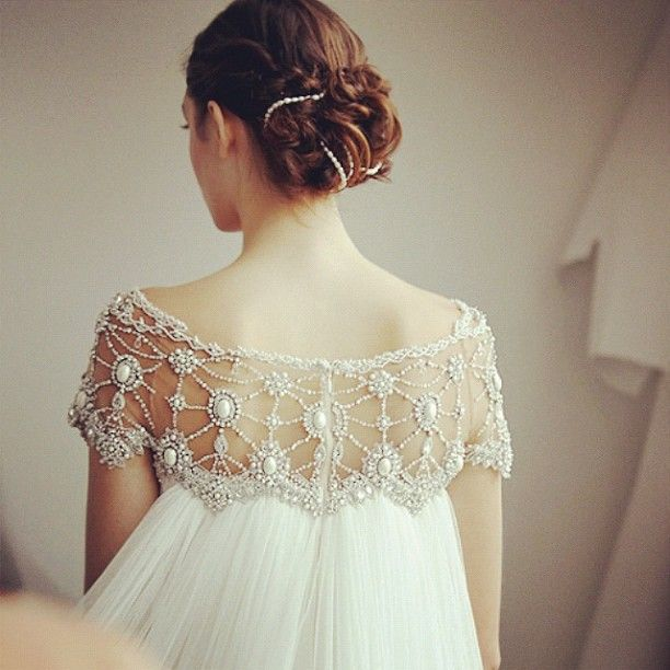 Beaded detail by Marchesa