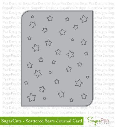 SugarPea Designs - Scattered Stars Journal Card die  3x4   $22.95