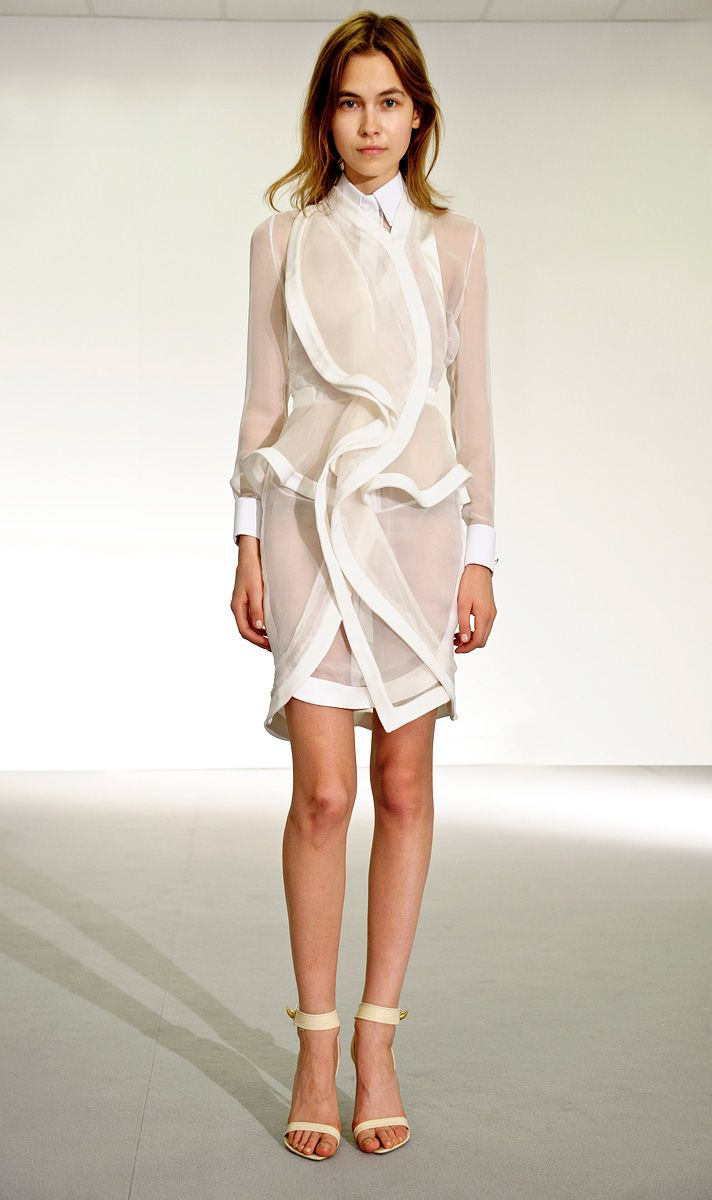 without the workshirt collar underneath. givenchy ss12