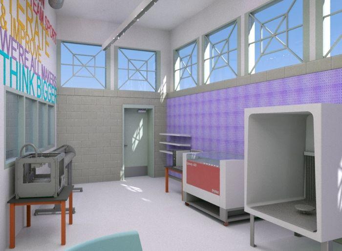 Renderings of a Teen Makerspace   http://kck.st/1mQBa48
