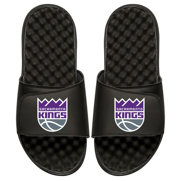 Sacramento Kings Personalized Primary Slide Sandals - Black - $49.99