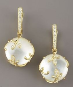 Frederic Sage Vine Mother-of-Pearl Earrings