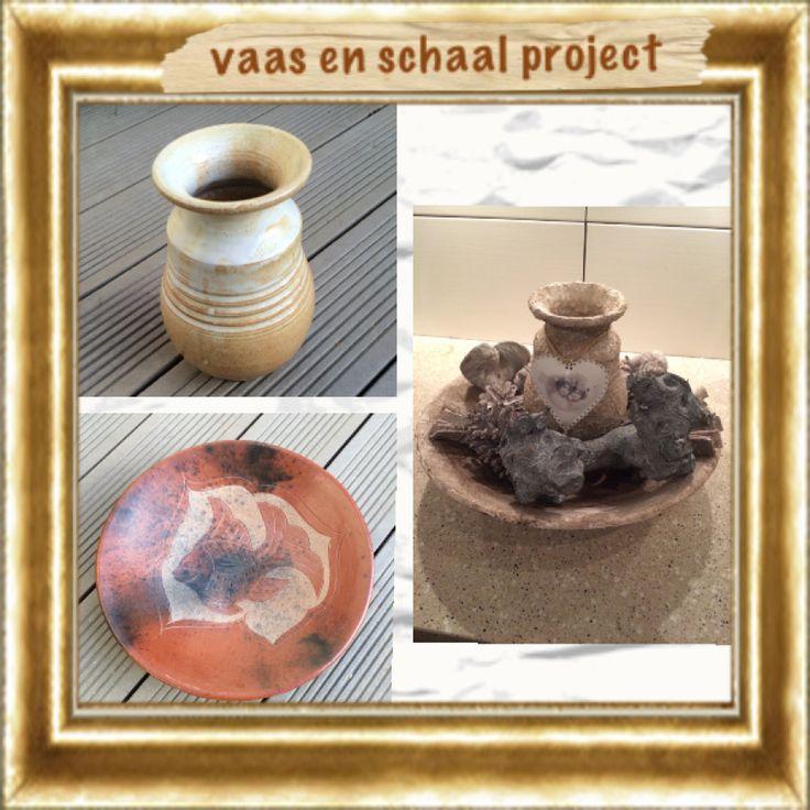 Project vaas met schaal bewerkt met muurvuller