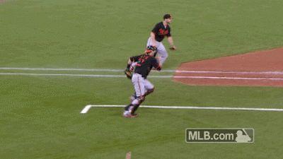 Blue Jays Troy Tulowitzki jumps over catcher to avoid tag/ hahaha Tulo!