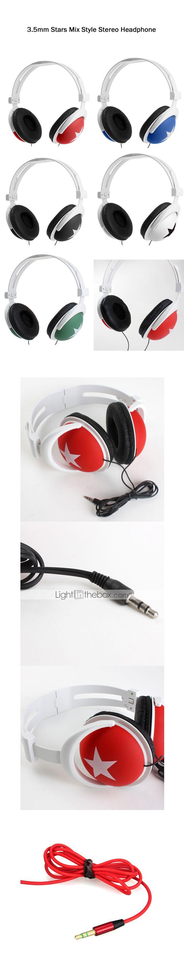 casque 3,5 mm stéréo sur l'oreille contrôle du volume pour lecteur media / tablette (couleurs assorties) - CAD $ 6.64