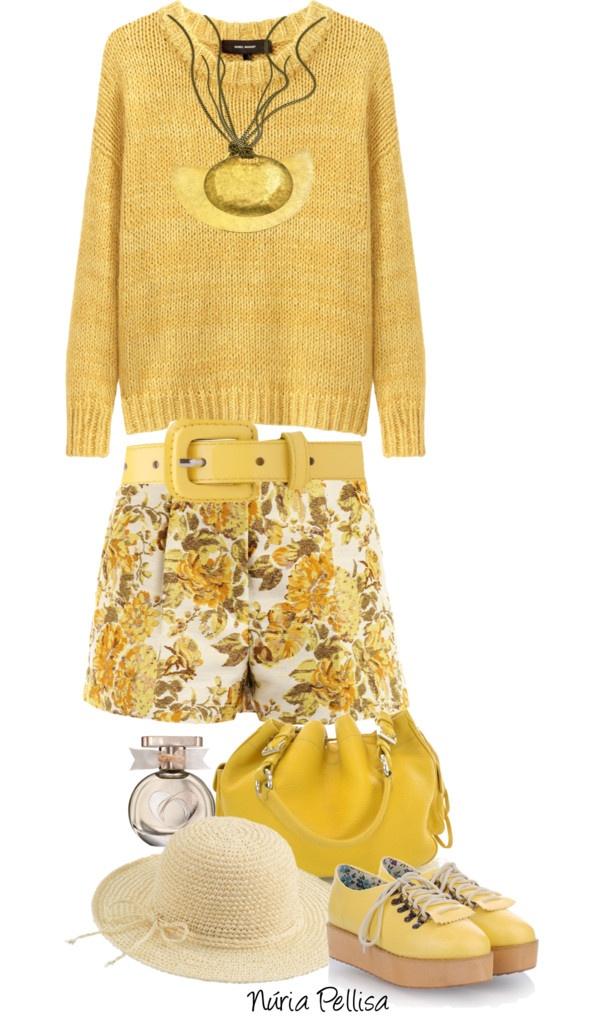 """Floral Jacquard Shorts Stella MacCartney"" by nuria-pellisa-salvado ❤ liked on Polyvore"