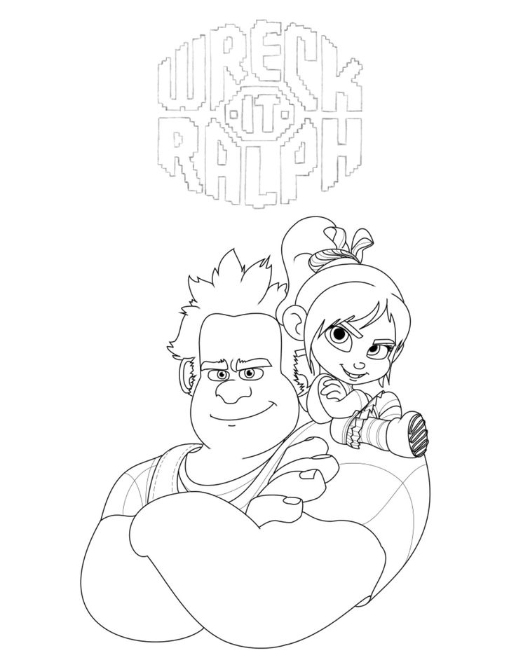 65 Best Disney Wreck It Ralf Coloring Pages Disney Images On Pinterest