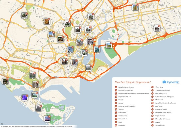 Map of Singapore attractions | Tripomatic.com