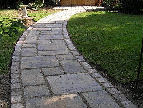 Bayleaf Garden Services - York stone curved path