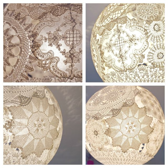 78 best images about doily lanterns on pinterest paper for Doily paper floor lamp