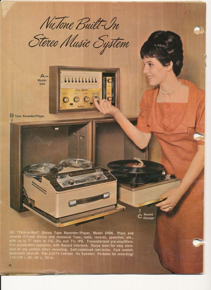 midcenturymodernfreak:  1966NuTone Built-In Stereo Music System - Via