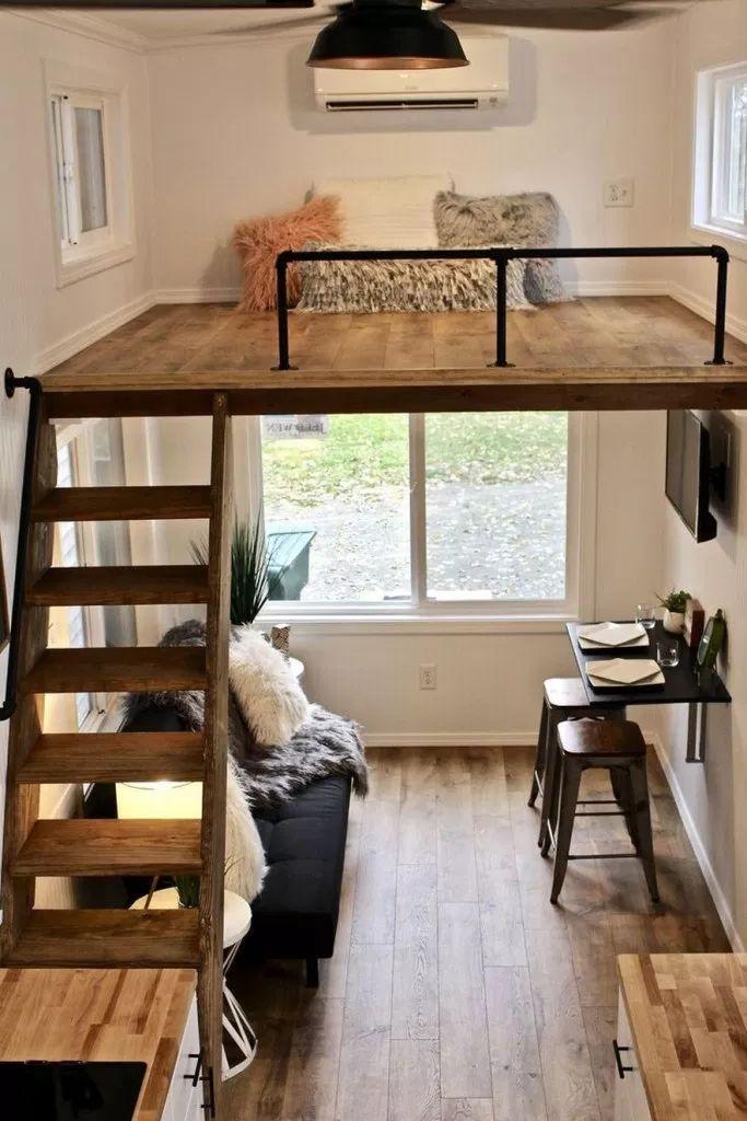 40 Loft Bed Design Ideen Die Sie Jetzt Ausprobieren Sollten Mehr Platz Fur Kleine Schlafzimme Tiny House Interior Design Tiny House Interior Tiny House Design