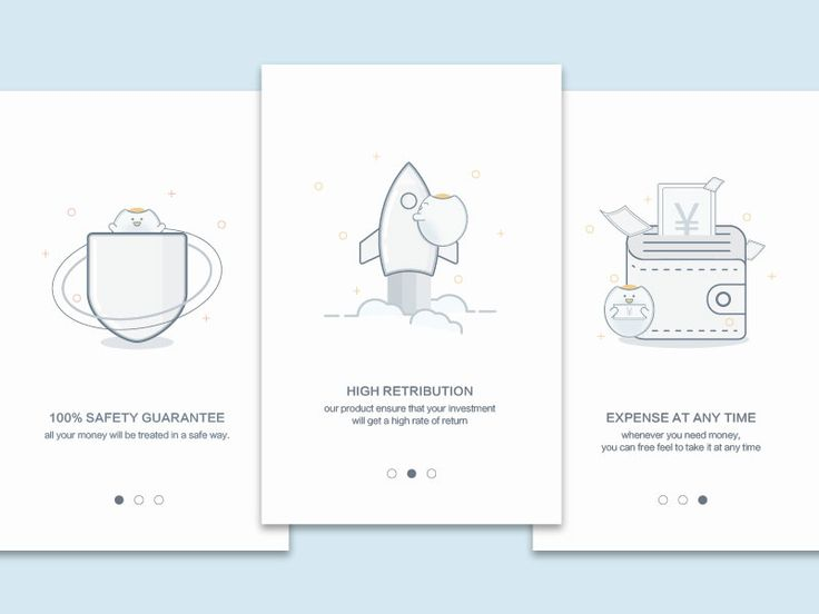Onboarding illustration for finance app project. Hope you would like it :D