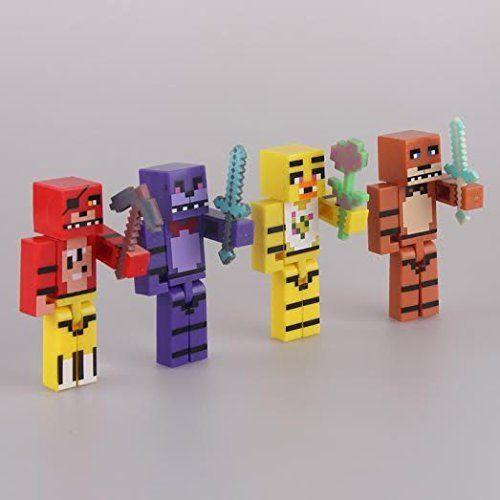 Minecraft Toy Freddy : Fnaf figures set of freddy fazbear bonnie chica foxy