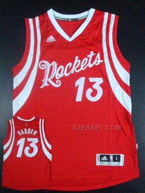 660417c12 James HardenHouston RocketsSoccer JerseysRed ChristmasJames Houston Rockets  13 James Harden 2014 15 New Home White Swingman Jersey 2016 NBA Christmas  Day ...