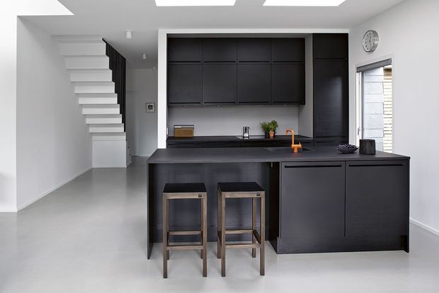 Minimalist kitchen. via Scandinavian Retreat: Danish familyhome