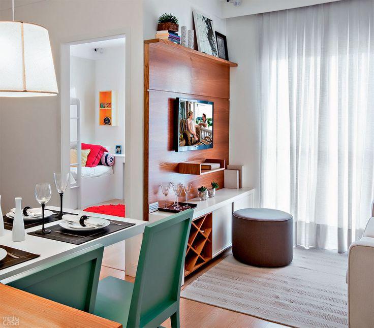 Tv Fixa Na Parede Da Sala ~ Na sala, o painel da TV é exemplo de móvel multiúso Equipado com