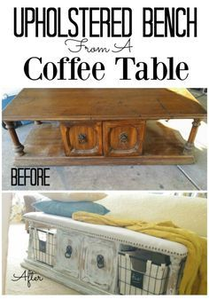 Upholstered Bench from a Coffee Table · Addison Meadows Lane