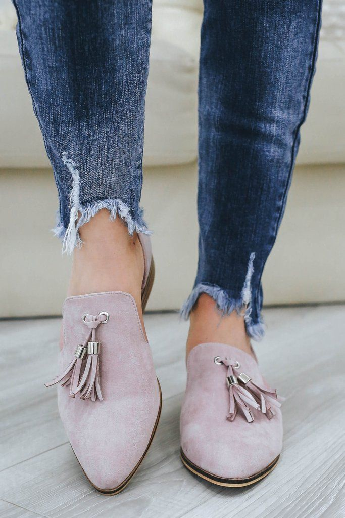 c7f5c5bcf69 Carter-07 Faux Suede Loafers - Online Clothing Boutique