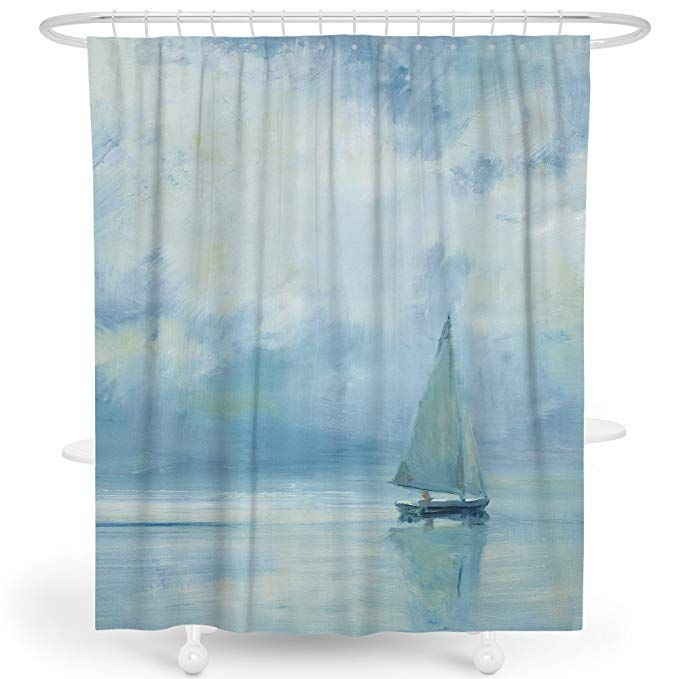 Livetty Shower Curtain Bathroom Decor Waterproof Mildew Resistant