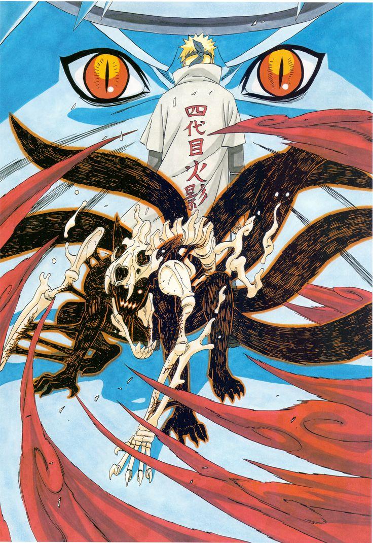 Tags: NARUTO, Uzumaki Naruto, Scan, Kishimoto Masashi, Namikaze Minato, Kyuubi (NARUTO), Official Art
