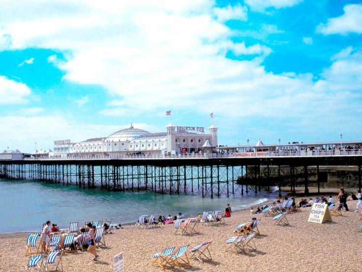brighton pier view canvas - Google Search