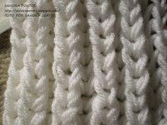 Usei 2 fios de lã Elegance Coloquei 15 pontos 1ª) em trico 2ª) * 1 ponto sem fazer em trico,1 laçada e 2 pontos juntos em trico*...............