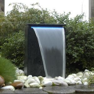 Modern Square Waterfall Self Contained Outdoor Garden