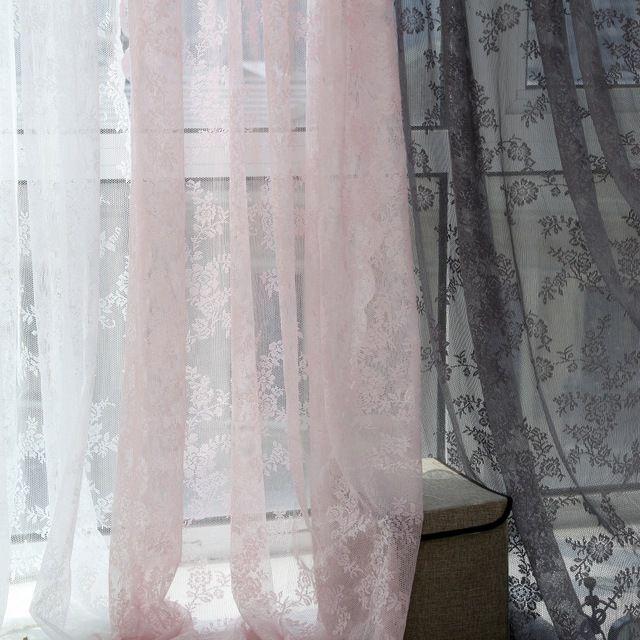 3 Kleuren 150 cm x 180 cm Panel Sheer Voile Gordijn Panel Drape Kamer Bloemen Tulle Sjaals Valletjes Gordijnen
