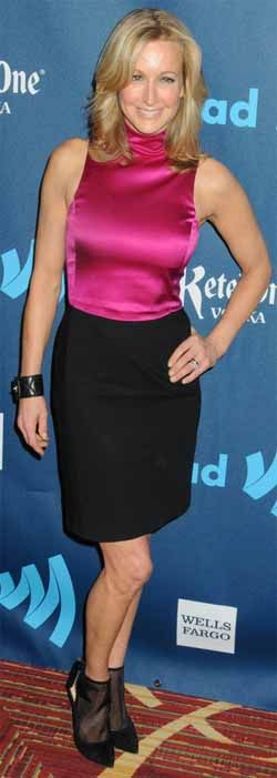 FALL SHOE PREVIEW: Lara Spencer wears Carmen Marc Valvo Calzature