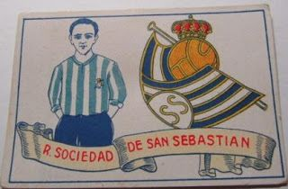 Real Sociedad de San Sebastián. Temporada 1928-29. Cromos Amatler.