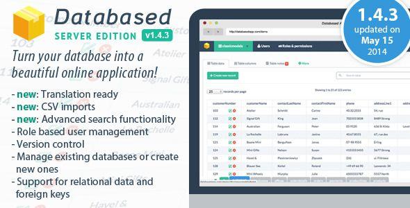 Database Application Platform - CodeCanyon Item for Sale