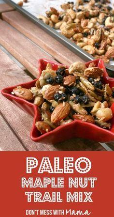 Paleo Trail Mix #paleo #glutenfree #grainfree - DontMesswithMama.com