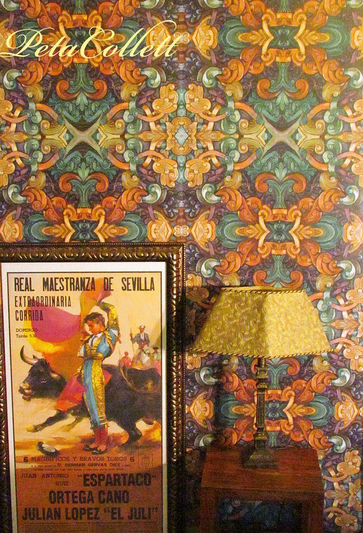 Baroque wallpaper print, styling and wallpaper print Peta Collett